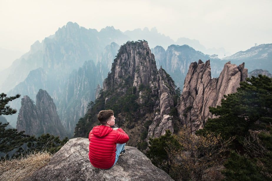 On the edge of Mount Huangshan